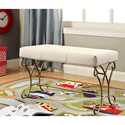 Furniture of America Heiress Kids Bedroom Bench in Champagne