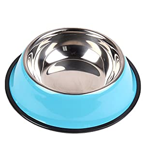 BIBSS Stainless Steel Pet Bowl for Small/Medium Dog and Cat,Pets Food Bowl and Water Bowl Perfect Choice Set of 2