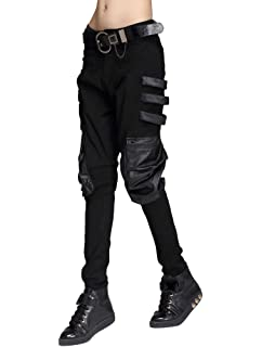 6b6ec9c48f Punk Rave Womens Dieselpunk Jeans Pants Black Goth Cyberpunk Cyber Faux  Leather. £44.99 · Mallimoda Women's Basic Jeans Jeggings Punk Skinny Pants