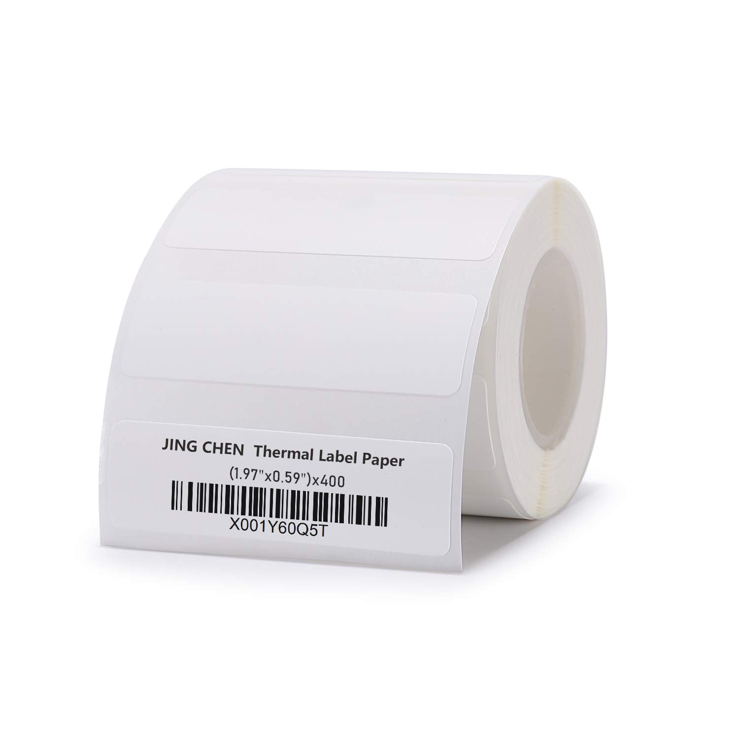 "JINGCHEN Thermal Label Paper, Print with B11/B3, Widely Used in Inventory/Food/Supermarkets/Clothing & Shoes & Hats, Label Printing, 1.97""x0.59"", 400 Labels/Roll"