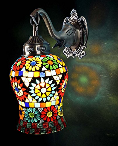 Lalhaveli Indian Home Decorative Outdoor Christmas Wall Lamp Light Fixture 10 X 9 - Tiffany Outdoor Furniture Mosaic
