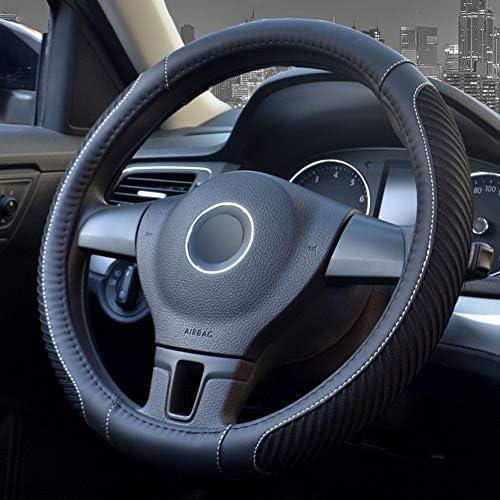 Auto Lenkradabdeckung Leder Anti-Rutsch Verschlei/ßfest f/ür PKW//LKW//Busse//Transporter 14,2-19.7 Zoll Durchmesser 36-50 cm