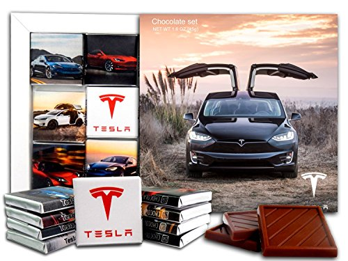 DA CHOCOLATE Candy Souvenir TESLA Chocolate Gift Set 5x5in 1 box (Sunset -