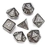 QOJA 7 pcs trpg polyhedral dice rpg dice set gadget with bag