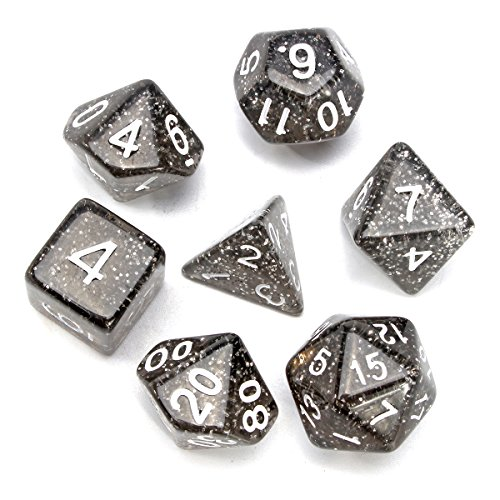 QOJA 7 pcs trpg polyhedral dice rpg dice set gadget with bag by QOJA