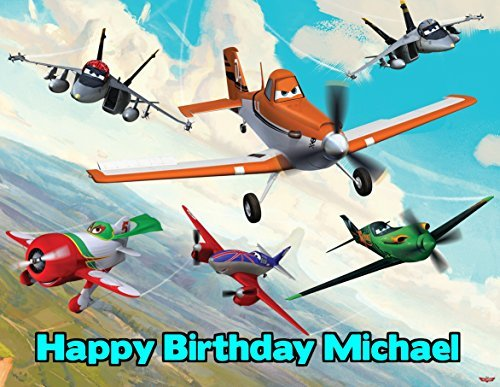 Disney Planes Image Photo Cake Topper Sheet Personalized Custom Customized Birthday Party - 1/4 Sheet - 79902]()
