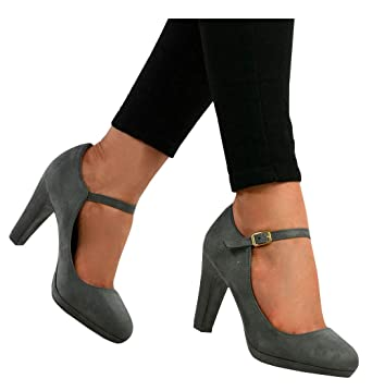 66e74c0bf778 PiePieBuy Women s Pointed Toe Ankle Strap High Heel Pumps Shoes Bow Wedding  Party Evening Dress Shoes