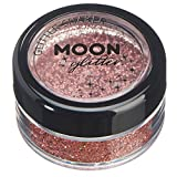 Holographic Glitter Shakers by Moon Glitter – 100% Cosmetic Glitter for Face, Body, Nails, Hair and Lips - 0.17oz - Rose Gold