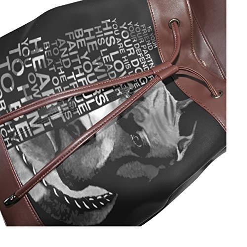 Pitbull ryggsäck handväska mode PU-läder ryggsäck ledig ryggsäck för kvinnor