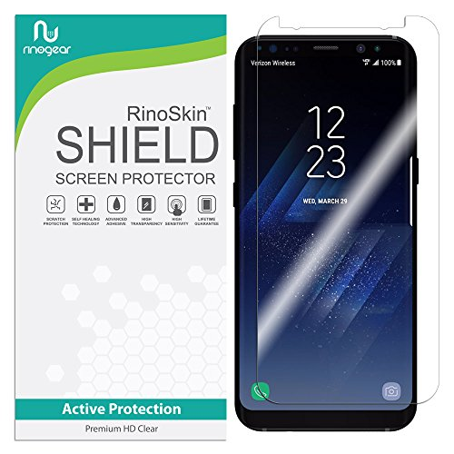 RinoGear for Samsung Galaxy S8 Plus Screen Protector (Edge-to-Edge) Flexible Screen Protector for Samsung Galaxy S8 Plus HD Crystal Clear Anti-Bubble Unlimited Replacement Film