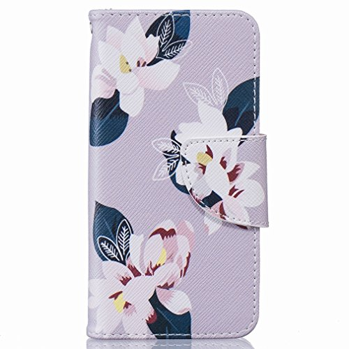 Cover iPhone 5s SE Custodia, Ougger Colorato Flowers Portafoglio Card Slot PU Pelle Magnetico Stand Silicone Flip Bumper Protettivo Cover Case Custodia per Apple iPhone 5s / iPhone SE