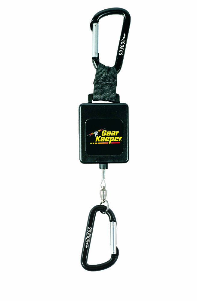 Gear Keeper RT3-4558 Retractable Instrument Tether with Aluminum Carabiner, 80 lbs Breaking Strength, 58 oz Force, 22 Extension by Gear Keeper B00BB0AUOO