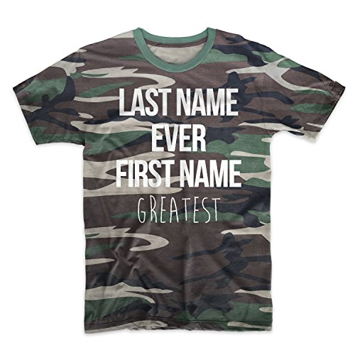 Teequote Last Name Ever First Name Greatest Camouflage Men's T-Shirt Camo Small (Last Name Ever First Name Greatest T Shirt)