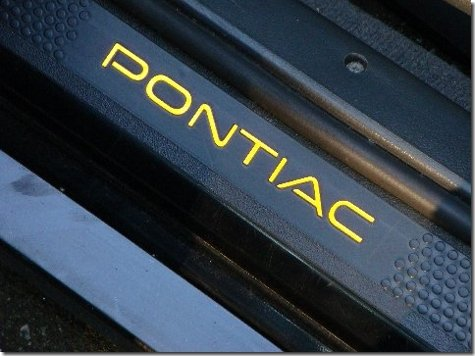 Decal Pontiac - Door Sill Overlay Decals - 1997-2003 Pontiac Grand Prix - (Color: Reflective Red)
