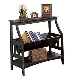 Poundex f4626 mueble revistero de madera color negro for Amazon muebles de cocina