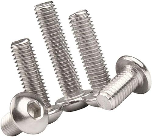 2 Pack pernos Allen M6 X 120 Mm Inoxidable Socket Caps