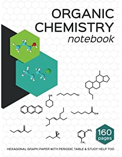 Organic and Inorganic Chemistry Kit Hexagonal Graph Spiral Notebook for Advanced Science Learning 239pc Complete Molecular Structure Molecule Model Set Stencil Template