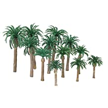 Hot 12pcs Layout Model Train Coconut Palm Trees Forest Scale HO 13-6CM
