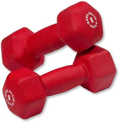 Body-Solid neopreno pesas - 6 Lb. Par: Amazon.es: Deportes y aire ...