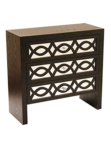 Heather Ann Creations Handcrafted Contemporary 3 Drawer Accent Storage Chest Console, 31.5