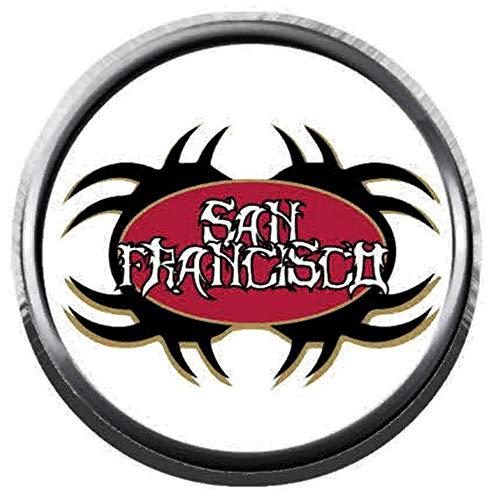 San Francisco 49ers Tribal Tattoo Art NFL Football Logo 18MM - 20MM Snap Jewelry Charm