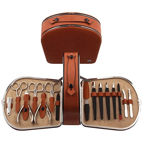 15PCS Manicure, Pedicure Kit, Personal Nail care goods with Portable Travel Case by BELOTTY Manicure set FR-166H/150/038 by BELOTTY