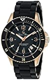 Lucien Piccard Men's LP-93608-RG-11 Moccasino Analog Display Swiss Quartz Black Watch