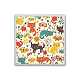 XIANN Care Contact Lens Box Holder Container Case Storage Eyecare Kit - Cute Colorful Cat And Butterfly
