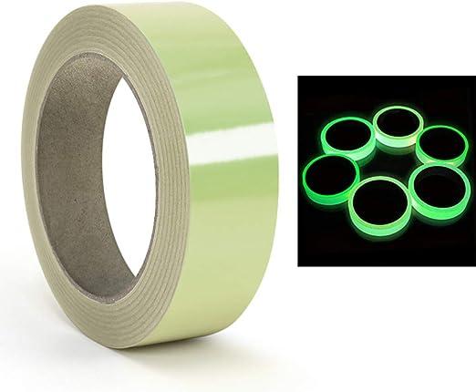 1 UNID PVC Cinta de Tela Fluorescente Reactiva Luminosa Cinta adhesiva Extraíble Impermeable Fotoluminiscente Glow Cinta (1#): Amazon.es: Hogar