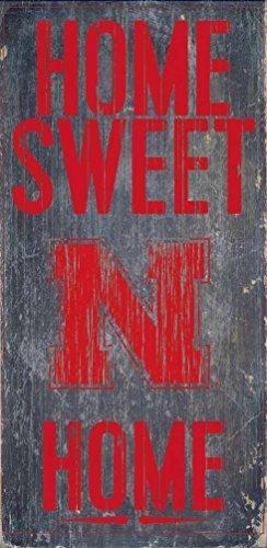 Nebraska Cornhuskers Wood Sign - Home Sweet Home 6x12 by Fan - Nebraska Outlet Stores