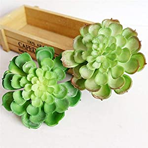Real Touch - Artificial Green Succulents Plants Fake Flower Plastic Succulent Lotus Christmas Wedding Party Home - Wedding Cala Lillies Brown Hydrangea Navy Lily Baby Peony Heads Daffodils 104