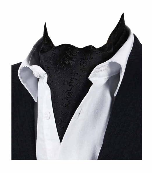 Amazon.com: mendeng Mens Negro Paisley Jacquard Woven Cravat ...