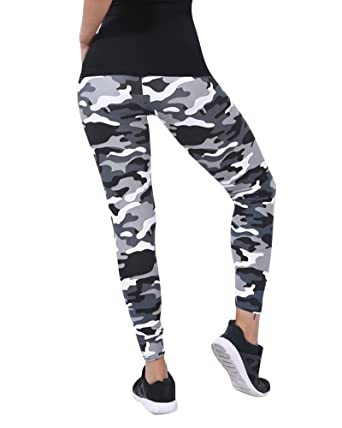 9f20cb901027f ZongSen Women's High Waist Camo Leggings Camouflage Military Work Out Athletic  Pants Trousers 7 One Size