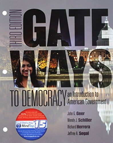 Bundle: Gateways to Democracy: An Introduction to American Government, Loose-leaf Version, 3rd + LMS Integrated for MindTap Political Science, 1 term (6 months) Printed Access Card