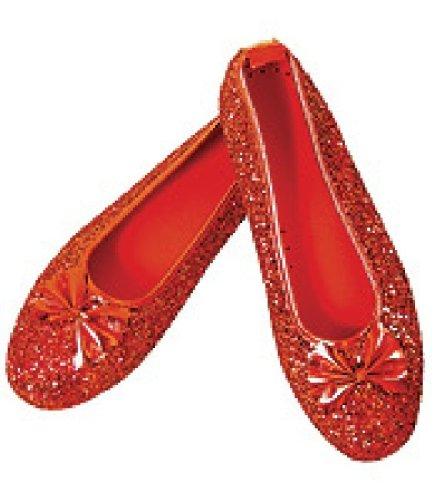 Wizard Of Oz Dorothy Ruby Slippers, Ruby Red, Large