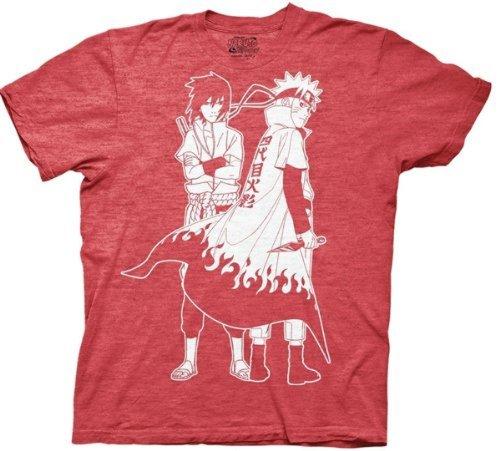 Naruto Shippuden Naruto & Sasuke Outline Men's T-shirt