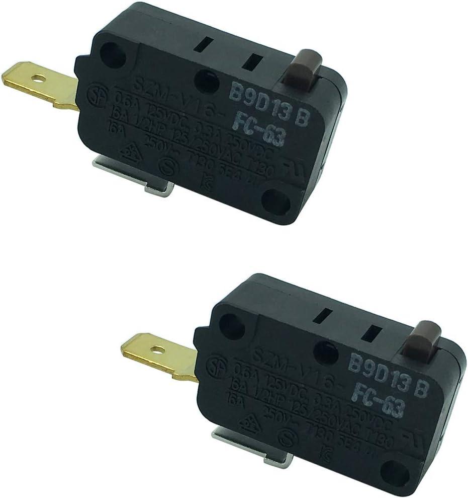 LONYE SZM-V16-FC-63 W10269460 Microwave Door Switch for Whirlpool Maytag Amana M