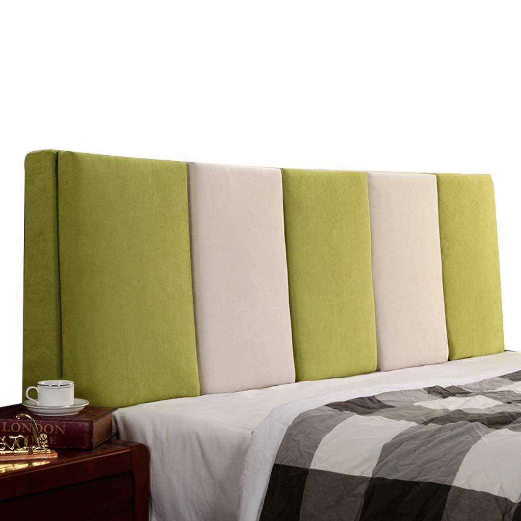 LPD- ベッド背もたれ ベッドサイドバッククッション 2色ステッチ ベッドの長い枕 ソファソフトウエストピロー 保護ウエスト (色 : 緑, サイズ さいず : 120X55CM) B07QSRQ91G 緑 120X55CM