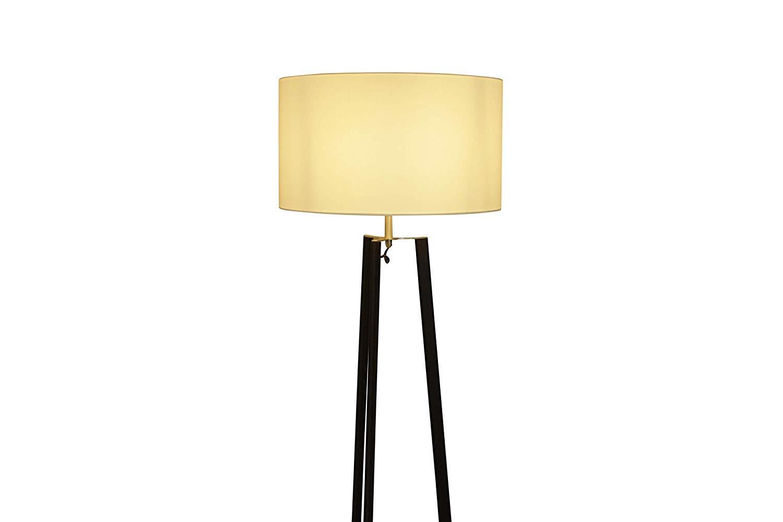 Lámpara Lux pie litmas lámpara de pie plástico níquel blanco 165 ...