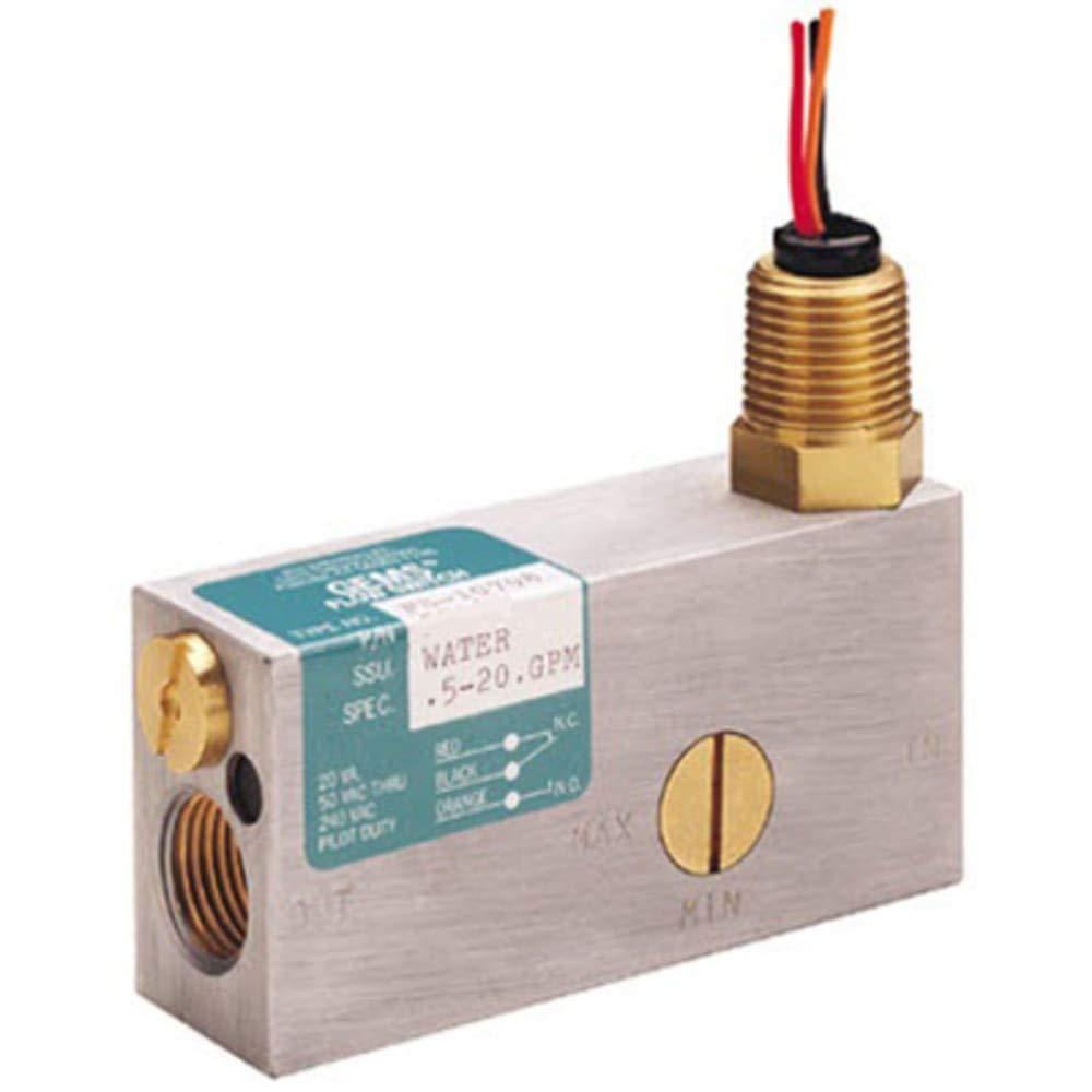 Switch; Flow; FS-10798; 0.50-20GPM; Brass; 1/2 NPT; Lead Wires