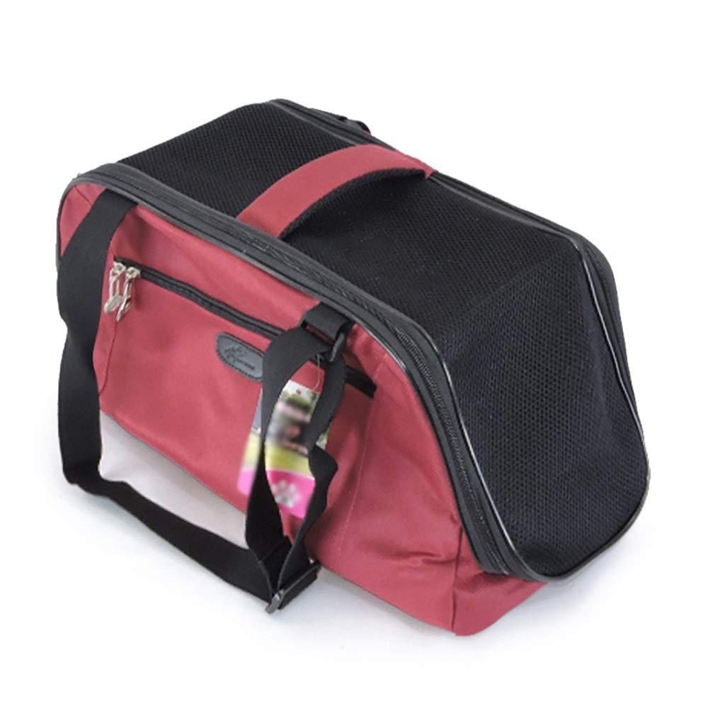 Red LargeGYZ Pet travel bag, dog bag cat bag, pet out device, breathable, folding, safe, multicolor, lightweight, safety buckle, storage bag, portable, fashion handbag Pet bag (color   Yellow, Size   S)