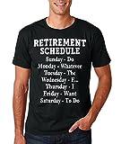 Funnwear Retirement Schedule - Birthday Special Present Premium Men's T-Shirt (X-Large, Black)