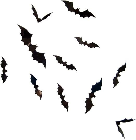 LARGE HALLOWEEN BAT TREE MOON WALL ART STICKER TRANSFER STENCIL VINYL DECAL