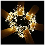 country kitchen table diy Cork Lights For Wine Bottles,20LED Starry String 2M Length Spark DIY Decorative Table Lamp With Empty Glass Liquor Beer Shape Bottle For Club Kitchen Party Warm Color 6 PACK
