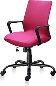 MOCAA Office Chair Cover,Computer Office Chair Slipcover, Mid Back Chair Covers (Chair not Included) (Rose Pink)