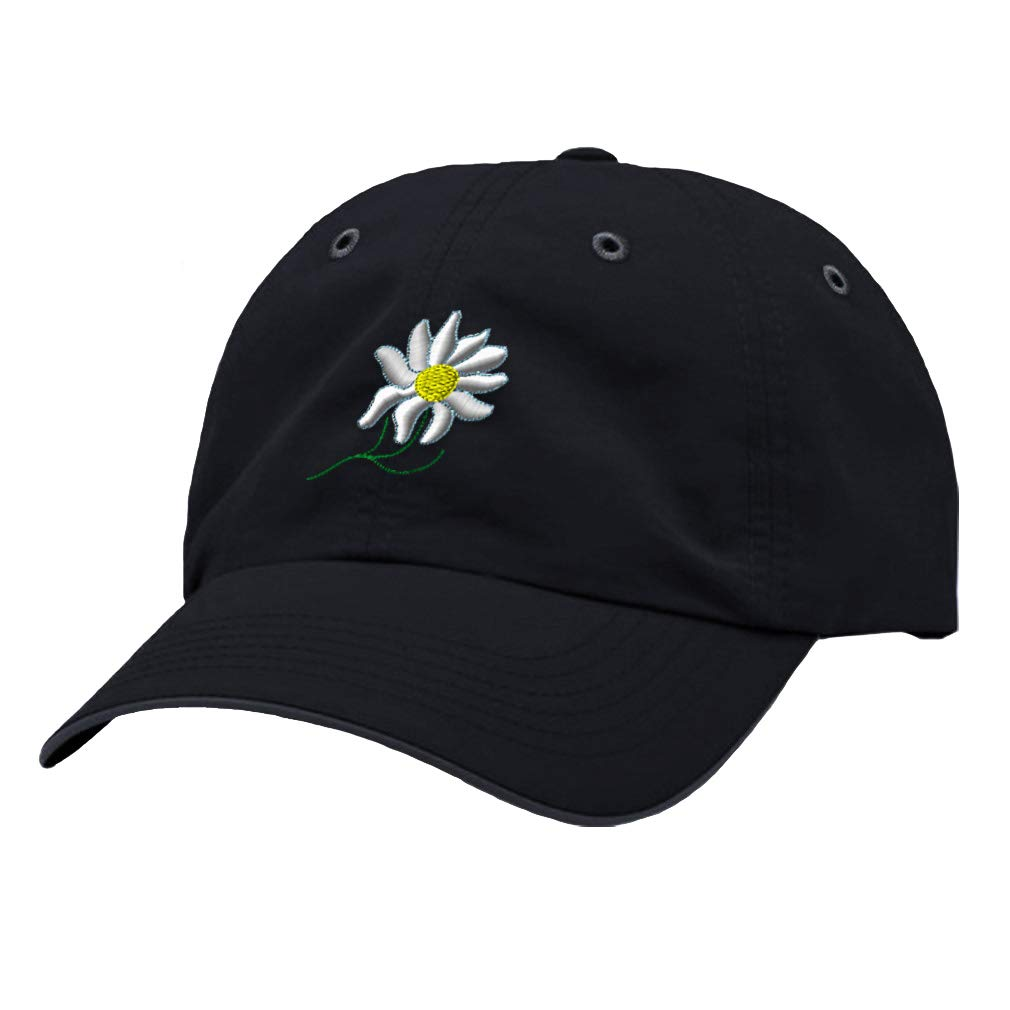 Custom Richardson Running Cap White Daisy Flower Embroidery Design Polyester Hat