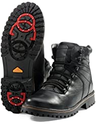 MIDA Men's Winter Ankle Boots 14507 - Leather Snow Shoes With Fully Fur Lined - Abrasion Resistant - Waterproof...