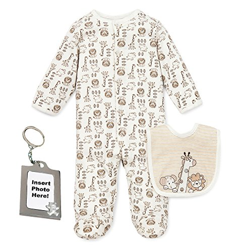 Little Me Preemie Newborn Baby Footed Sleeper Footie Sleep N Play Bib and Tether