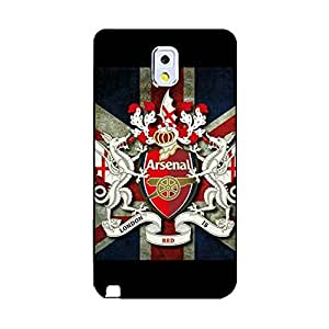 Hot Official Arsenal Football Club Phone Case Arsenal FC Logo Design Fine Note 3 N9005 Phone Case Cover