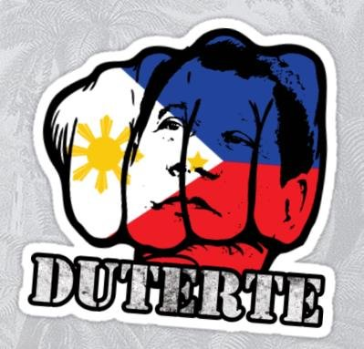 2pcs duterte president 2016 sticker decal v 3 philippines pinoy pride davao mayor du30 truck